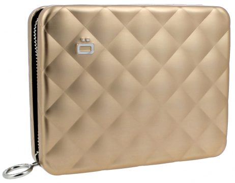 Ögon Quilted Passport Portefeuille Rose Gold