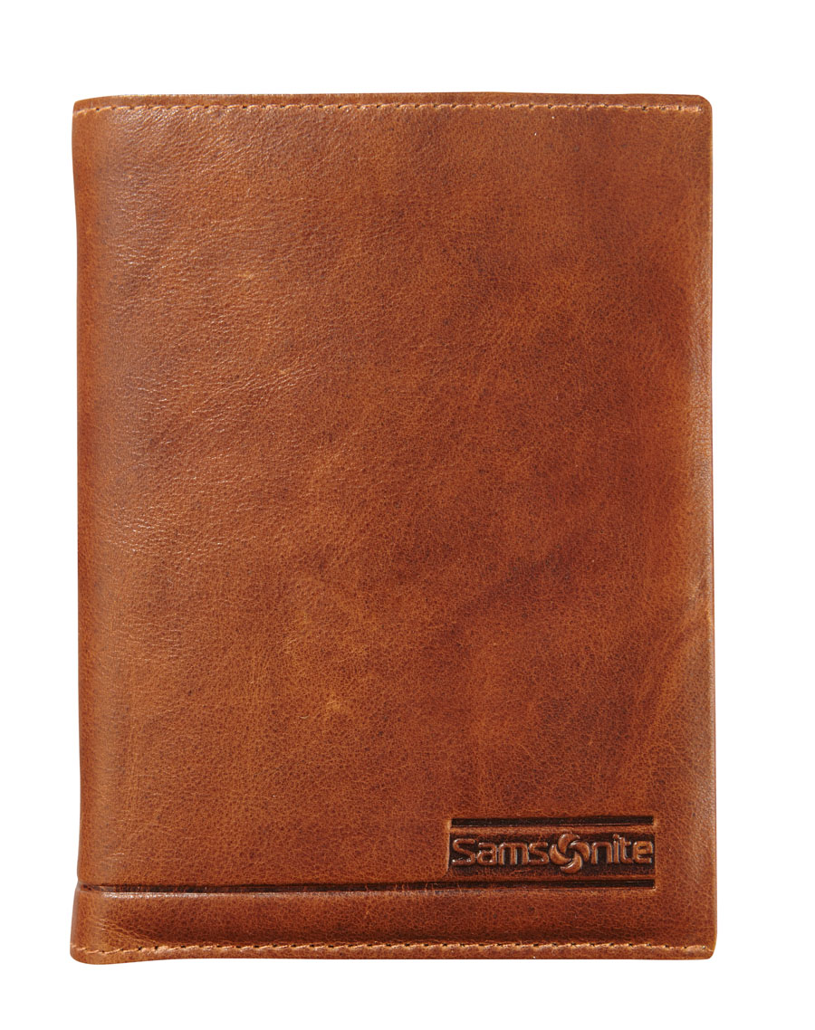 Samsonite Slant Wallet 9 Cards Tan