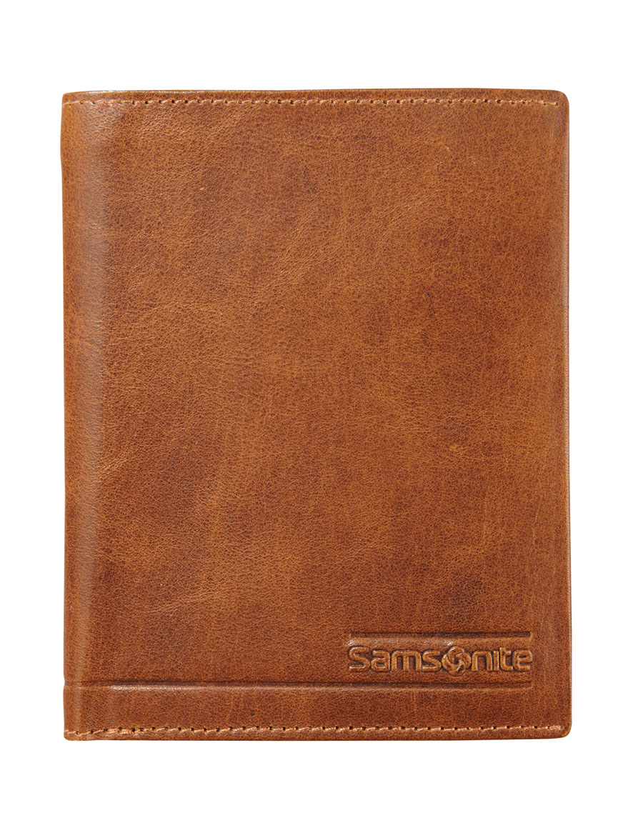 Samsonite RFID Slant Wallet 7 Cards 1,5 Window Tan