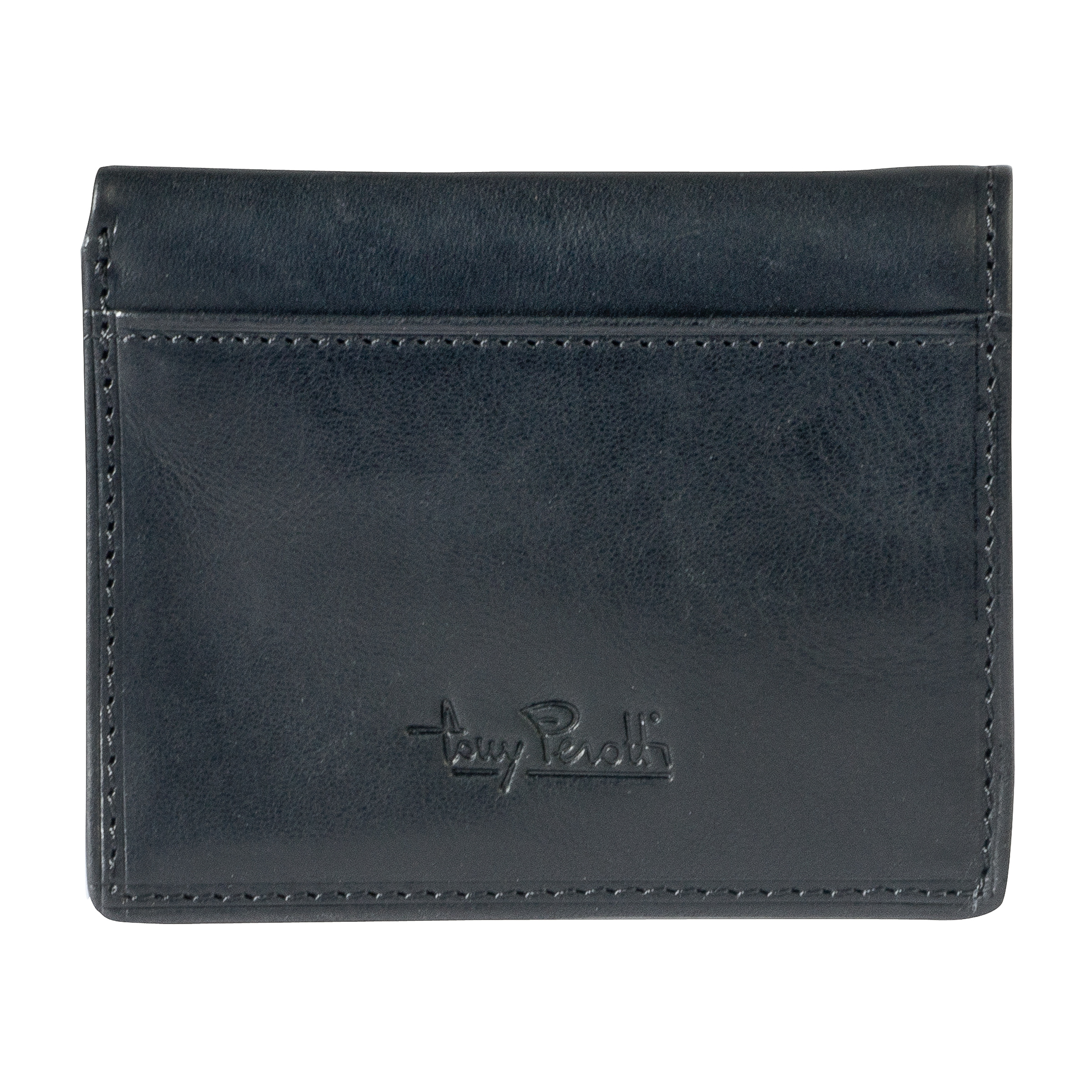 Tony Perotti Credit Card Wallet with Banknote Pocket Black